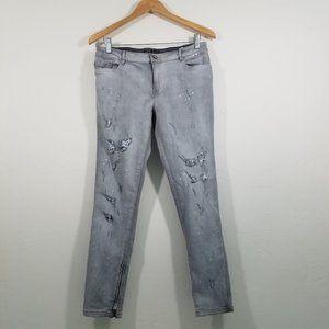 Zara Z1975 Distressed Skinny Jeans Size 10
